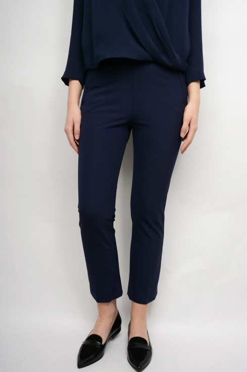 Straight Cropped Pant, Marine i gruppen Dam / Byxor & Jeans  hos Elin Maria AB (14WPS-4150064-410)