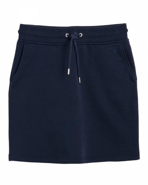 d295f08a0a27 GANT | Tonal Shield Sweat Skirt, Evening Blue | Kjolar - Dam