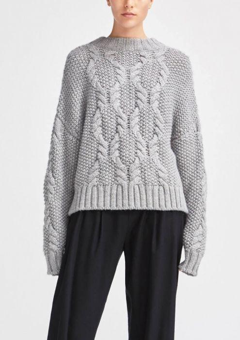Rodebjer Carrie Alpaca Sweater Grey Melange Sweaters Car