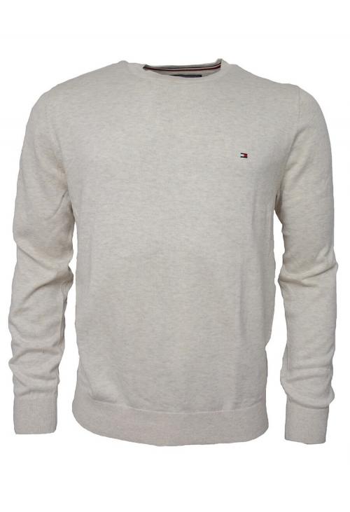 c595034da TOMMY HILFIGER HERR   Cotton Silk Cneck Sweater, Beige   Sweate