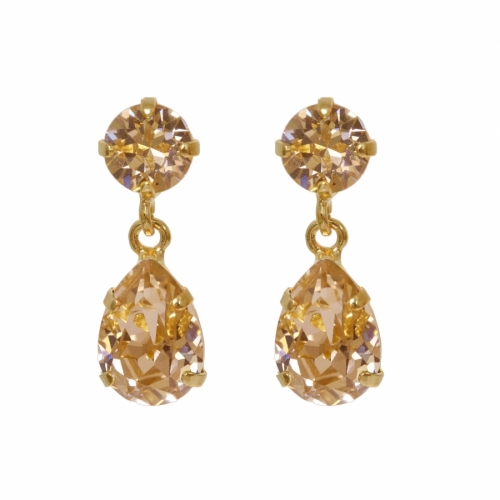 Mini Drop Earrings Gold, Golden Shadow i gruppen Dam / Smycken hos Elin Maria AB (43W-GGSHA-G)