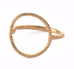 Twisted Open Coin Ring Gold Plated i gruppen Dam / Smycken hos Elin Maria AB (7553)