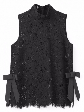 Duval Lace Top Black
