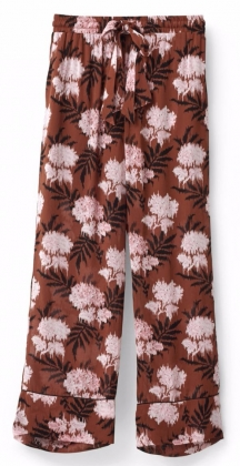 Monette Georgette Pants Brandy Brown