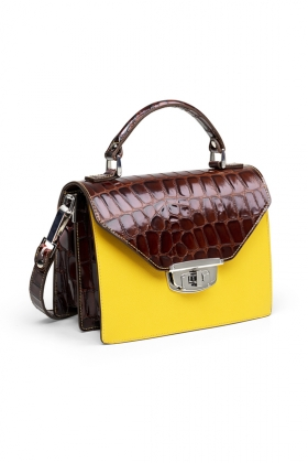 Gallery Accessories Buckle Bag, Tortoise Shell