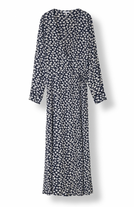ROSEBURG CREPE WRAP DRESS, TOTAL ECLIPSE