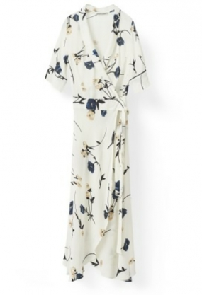 Dalton Crepe Dress LONG, VANILLA ICE