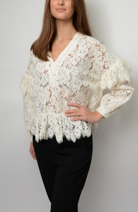 Jerome Lace Blouse, Egret