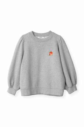 PUFF SWEATSHIRT, COTTAGE PALOMA MELANGE
