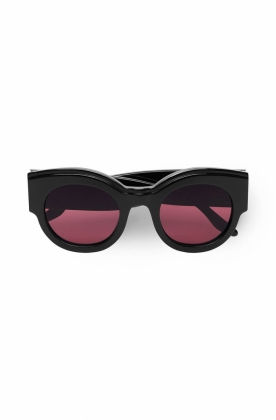 Round Sunglasses Sunglasses, Black