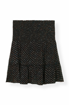 Mullin Georgette Mini Skirt, Black