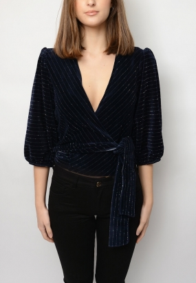 Hawley Wrap Top, Total Eclipse
