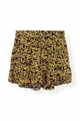 Goldstone Crepe Shorts, Black