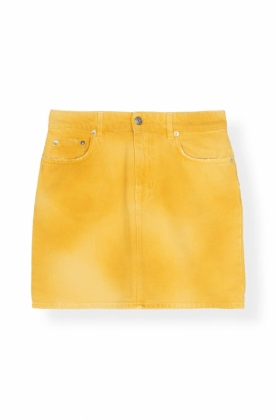 Shiloh Denim Skirt, Minion Yellow