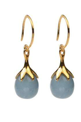 Dripping Earrings Gold Angelite