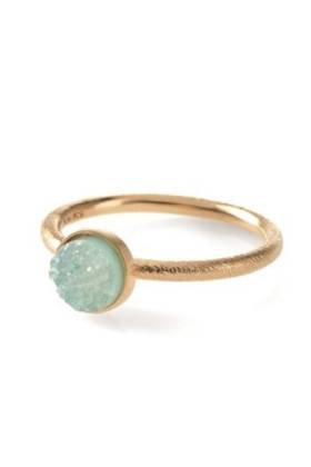 Small Blue Lagoon Ring Gold Plated