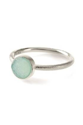 Small Blue Lagoon Ring Silver
