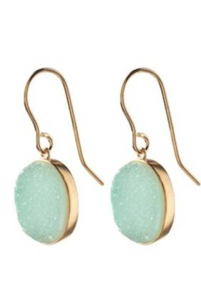 Blue Lagoon Earring Gold Plated