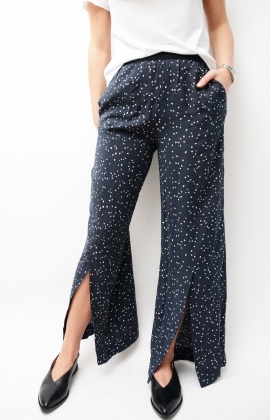 Gaby Trouser Navy Dot Print