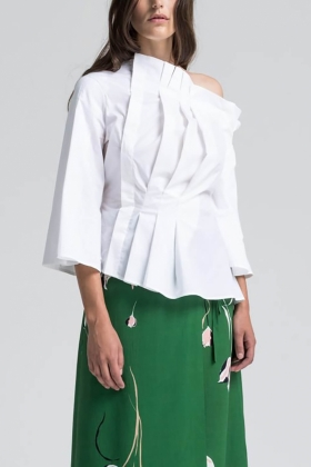 MASAI BLOUSE, BRIGHT WHITE