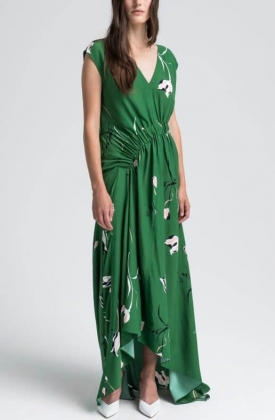 HARUNA DRESS, GREEN PRINT