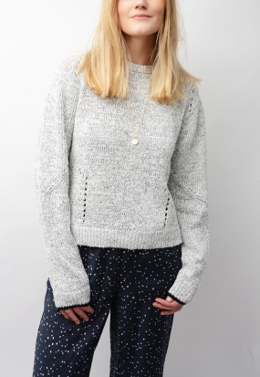BEL SWEATER, SALT&PEPPER