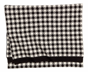Dog Tooth Scarf, Black Check
