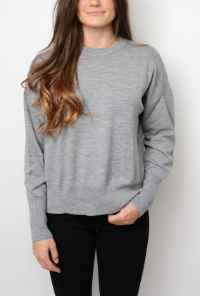 Iren Sweater, Light Grey Melange