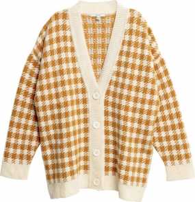 Beata Cardigan, Mustard Check