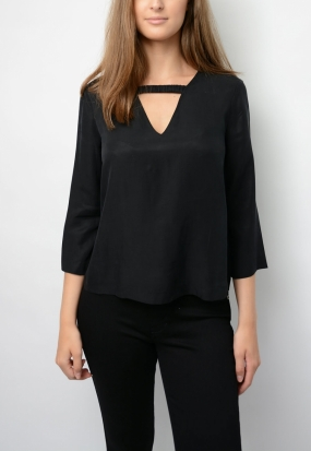 Shimako Blouse, Black