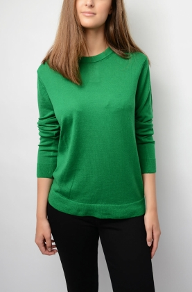 Love Merino Sweater, Bright Green