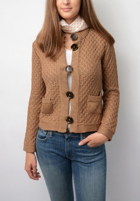Fortuna Cotton Sweater, Camel