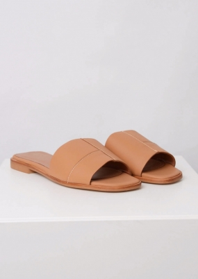 Milla Sandals, Tan Nappa