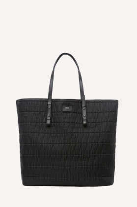 Quilted Shopping Bag, Black