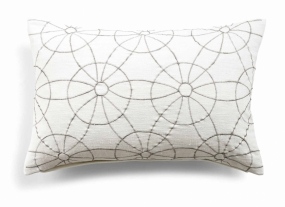 Day Symetry Cushion cover, White