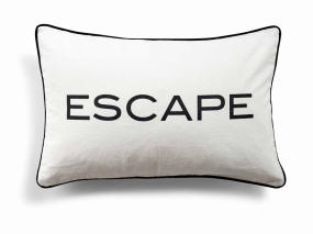 Day Quotes Cushion Cover, Escape