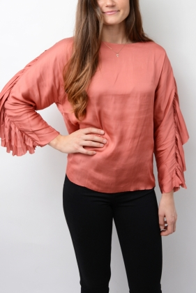 Day Souk Blouse, Rouge