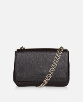 Small Clutch With Double Chain Black