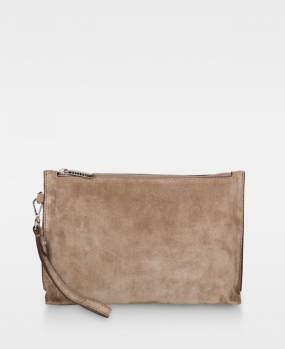 Small Clutch Suede Sand