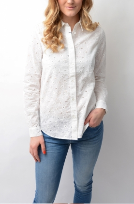 Broderie Anglaise Shirt White