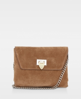 Cleva Small Pouch, Suede Latte