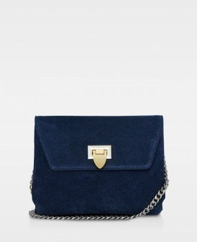 Cleva Small Pouch, Suede Navy