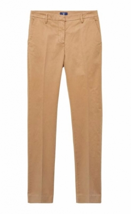 Satin Slacks Warm Khaki
