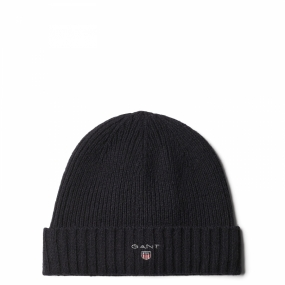Lined Cotton/Wool Beanie, Navy