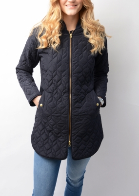Quilted Coat Marine