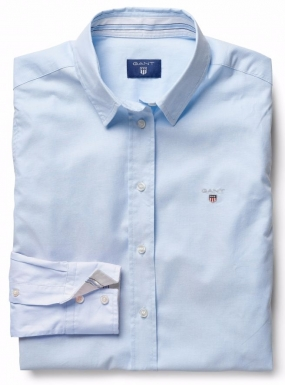 Stretch Oxford Solid Shirt Light Blue