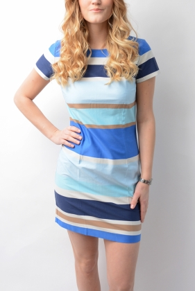 Pastel Shift DRESS, PERSIAN BLUE