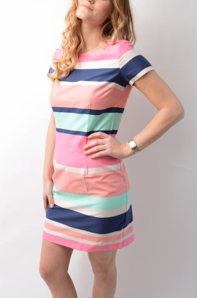 Pastel Shift DRESS, BRIGHT MAGENTA