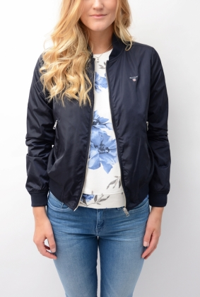 Airy Nylon Bomber Navy