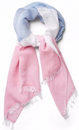 Colour Block Scarf Bright Pink